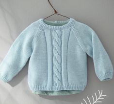 We love this pretty bra twisted! Knitted in PARTNER BABY yarn blue horizon, you can also choose a sweater if you prefer! Knitting For Kids, Crochet For Kids, Brei Baby, Slip Stitch Knitting, Tricot Baby, Pull Bebe, Baby Skirt, Pretty Bras, Baby Pullover