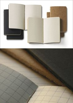 40 Awesome Gift Ideas For Architects And Interior Designers // Pocket notebooks with grid and lined paper.