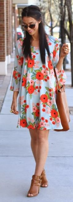 Paper Crown + Rifle Paper Co. Fluttered Blooms Swing Dress #anthroregistry