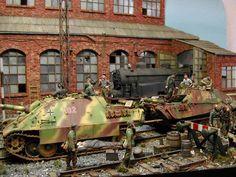 Dioramas Militares (la guerra a escala). - Página 16 - ForoCoches Diorama Militar, Escala Ho, N Scale Trains, 40k Terrain, Military Armor, Military Modelling, Military Diorama, Ww2 Tanks, German Army