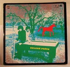 Pavol Hammel & Marian Varga - Zelena Posta - Opus 91 13 0191 - Czechoslovakia, 1972 Lp Cover, Cover Art, Painting, Vintage, Collection, Painting Art, Vintage Comics, Paintings, Painted Canvas