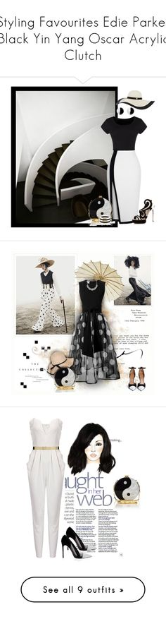 """""""Styling Favourites Edie Parker Black Yin Yang Oscar Acrylic Clutch"""" by olgutieuse ❤ liked on Polyvore featuring bags, handbags, clutches, purses, multi, grey handbags, gray crossbody purse, lucite purse, cross-body handbag and handbag purse"""