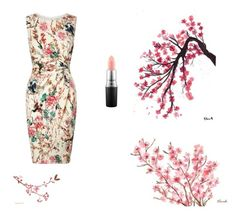 """""""Cherry Blossom Land"""" by kylamckay1210 ❤ liked on Polyvore featuring Lipsy, MAC Cosmetics, women's clothing, women, female, woman, misses and juniors"""