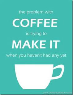 This is a #coffee lover's version of the chicken or the egg dilemma. #TheDailyGrind