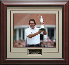 Phil Mickelson 2013 British Open Champion Framed Photo   Official Photo, Golf Memorabilia
