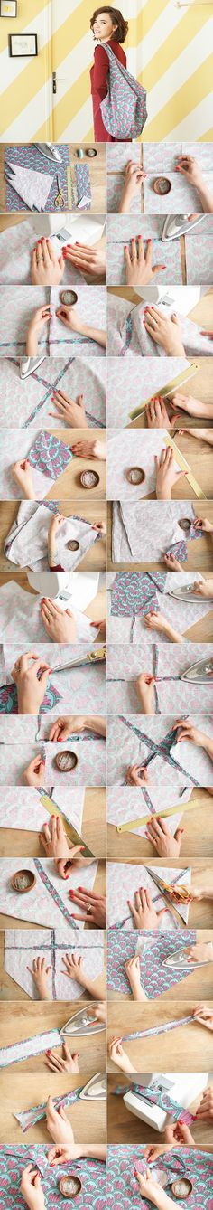 DIY du Tote Bag Losange http://makemylemonade.com/diy-tote-bag-losange/
