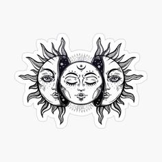 Vintage Solar Eclipse Sun and Moon • Millions of unique designs by independent artists. Find your thing. Mandala Hand Tattoos, Side Hand Tattoos, Tattoos Geometric, Small Hand Tattoos, Body Art Tattoos, Sleeve Tattoos, Stomach Tattoos, Girly Tattoos, Gun Tattoos