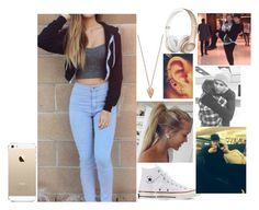 """Airport with 5sos"" by infinitygangster ❤ liked on Polyvore featuring Converse, Pamela Love and FingerPrint Jewellry"