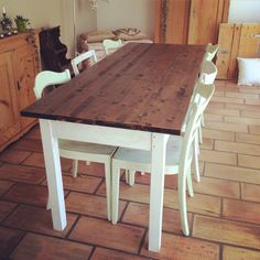 #shabbychic #shabby #chic #shabbychicfurnitures #white #table #countrystyle Country Style, Shabby Chic, Dining Table, Rustic, Furniture, Home Decor, Country Primitive, Homemade Home Decor, Dinning Table Set