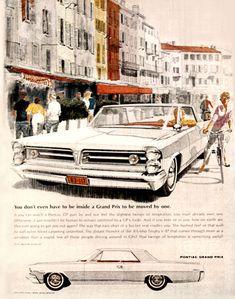 Pontiac Grand Prix 1963 Europe - www.MadMenArt.com | Vintage Cars Advertisement…