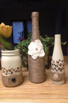 Bottle art/Wine bottles, maons jars
