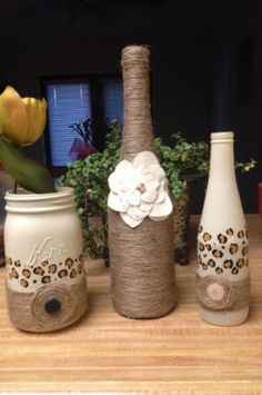 Bottle art/Wine bottles, maons jars