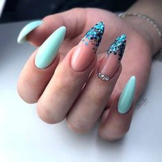 Almond Acrylic Nails, Best Acrylic Nails, Chic Nails, Stylish Nails, Nagellack Design, Almond Nails Designs, Fire Nails, Minimalist Nails, Nagel Gel
