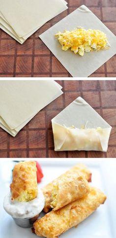 #21. Scrambled Egg & Cheese Rolls -- 30 Super Fun Breakfast Ideas Worth Waking Up For