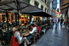Degraves Street, Melbourne is a popular spot with many eateries and is currently heritage protected.