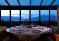 In room dining in the Royal Suite Dream Hotel, Above The Clouds, Rooms, Table Decorations, Dining, Furniture, Home Decor, Bedrooms, Food