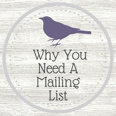 Find out why your business desperately needs a mailing list!
