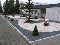 Amazing Vorgarten mit hellem und dunklem Splitt fertig u Gartenplanung D sseldorf M nchengladbach K ln sch n u pflegeleicht