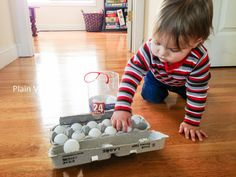 ping pong balls, muffin tin discovery trays and more play ideas for babies and toddlers