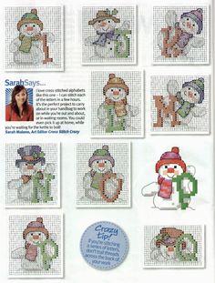sandylandya@outlook.es  Classic Snowman Alphabet 2