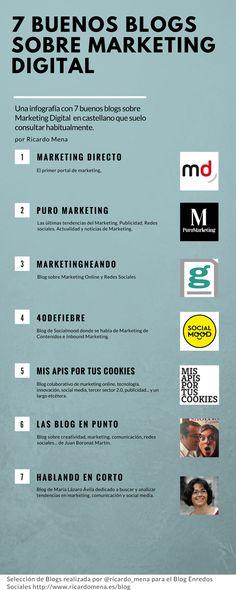 7 buenos blogs sobre marketing digital (infografia)