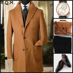BUSINESS STYLE(WINTER): Toquote(Overcoat )-Jaquel Droz(Watch)-Marlondo(Briefcase)-Unknown(Shoes)