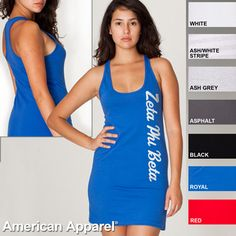 Zeta Phi Beta Racerback Tank Dress $26.95 #Greek #Sorority #Clothing #ZetaPhiBeta #Zeta