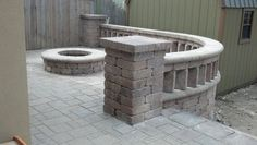 Paver patio with wood-burning firepit Wood Burning, Patio, Outdoor Decor, Home Decor, Homemade Home Decor, Yard, Porch, Terrace, Interior Design