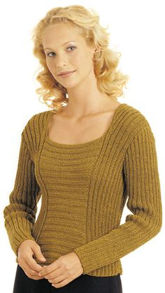 Free – Simple but effective play with ribbing. Ravelry: Tatania pattern by Berroco Design Team Hand Knitting Yarn, Lace Knitting Patterns, Knitting Designs, Free Knitting, Knitting Sweaters, Sweater Patterns, Knitting Tutorials, Stitch Patterns, Handgestrickte Pullover
