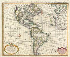 Mapa de América de Covens and Mortier, 1755