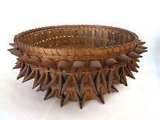 Fancy Antique PENOBSCOT Northeast USA, Native American Indian BASKET Early 1900s