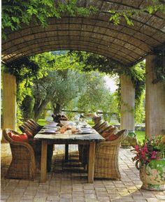 beautiful outdoor area for al fresco dining