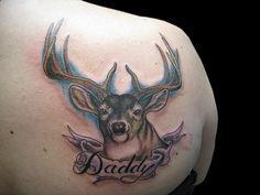 Find stunning ideas about deer head tattoo for your body Deer Hunting Tattoos, Deer Head Tattoo, Head Tattoos, Small Deer, Big Deer, White Deer Heads, Kopf Tattoo, Animals Beautiful, Cute Animals