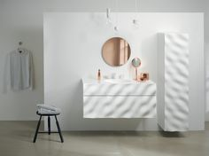 philipp aduatz's bathroom furniture series references wave formations