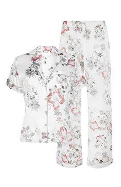 953ad4895 Primark Satin Floral Pyjama Set, £12 Primark, Pajama Set, Pajama Pants,