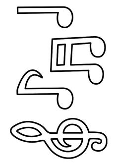 The Sound Of Music Coloring Page 10 Interesting Music Notes Coloring Pages For Your Music Lover Little Kids Music Crafts, Music Decor, Sound Of Music, Good Music, Kids Music, Notes Template, Templates, Toddler Crafts, Crafts For Kids