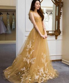 May 2020 - Champagne tulle lace long prom dress tulle lace evening dress Gala Dresses, Lace Evening Dresses, Elegant Dresses, Pretty Dresses, Award Show Dresses, Prom Dresses Under 100, Cheap Prom Dresses, Tulle Prom Dress, Tulle Lace