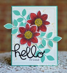Stampin' Up! Petal Potpourri, Crazy About You, Occasions Catalog Cards For Friends, Friend Cards, Flower Patch, Tampons, Cool Cards, Flower Cards, Creative Cards, Potpourri, Homemade Cards