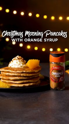 This pancake recipe is great for a last minute Christmas breakfast. You only need 20 minutes to whip up our festive pancake batter and fresh orange syrup. That's a breakfast worth making!
