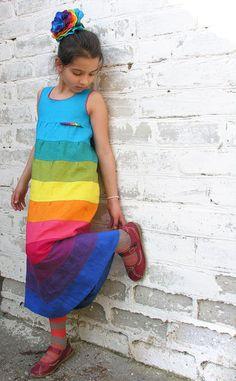 Платье-сарафан из льна. Handmade.