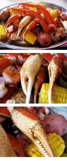Crab Boil with Crab, Shrimp, Corn, and Potatoes