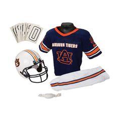 Franklin Ncaa Auburn Tigers Deluxe Football Uniform Set, Boy's, Size: Medium, Multicolor