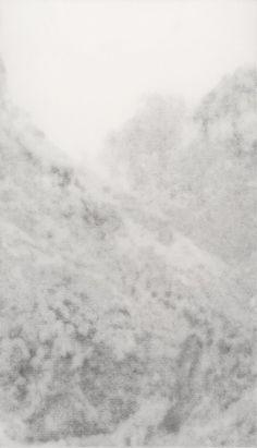 "Nina Papaconstantinou. ""Holiday Landscape (Winter)"". 2003. Graphite pencil on transparent paper. 110x64 cm"
