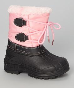 This Pink Lace Snow Boot by Transco is perfect! #zulilyfinds