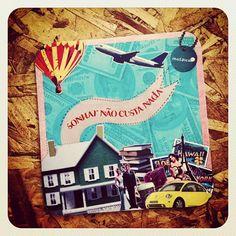 Sonhar não custa nada + felicidade + Mousepad + Collage + Loja Mosaico de Ideias - Instagram photo by @mosaicodeideias
