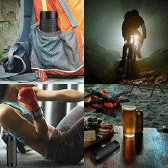 Make those commutes to work on your bike more entertaining ( and safe! ) with this 2 in 1 Waterproof Bluetooth Speaker and Flashlight. Great for people who love camping, hiking, cycling or even just long days on the beach this summer! Features: Great Sound Quality Wide Compatibility: The music on your devices can be p Cool Tech Gadgets, Gadgets And Gizmos, Travel Gadgets, Waterproof Bluetooth Speaker, Commute To Work, Flashlight, Cool Toys, 2 In, Speakers