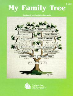 My Family Tree - Cross Stitch Pattern - 123Stitch.com