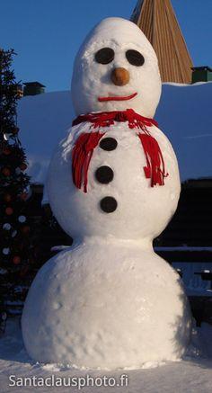Bonhomme de neige Village du Père Noël Rovaniemi Laponie