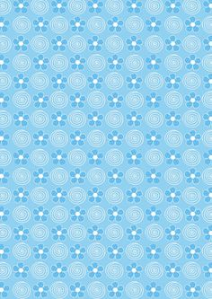 "FREE printable scrapbook paper - ""Blue Flowers and Swirls."""