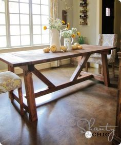 """Beautiful and Beefy"" Farmhouse Dining Table"